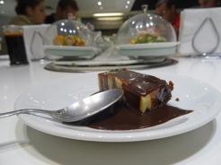 Pudim misto de chocolate com baunilha